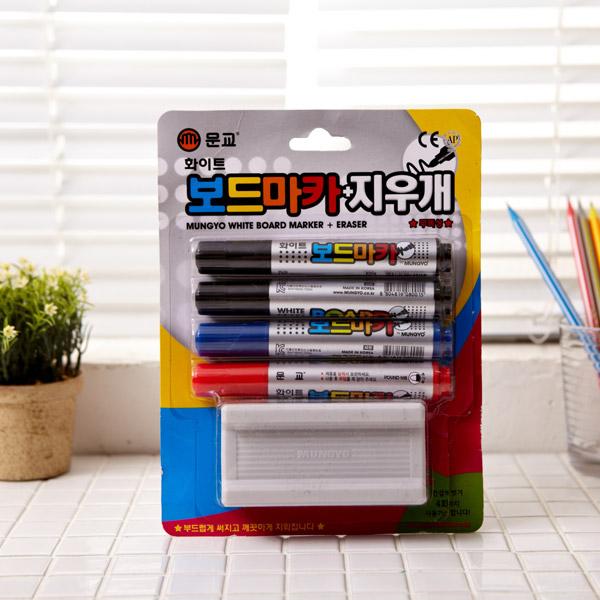 문교 화이트보드마카 4p지우개