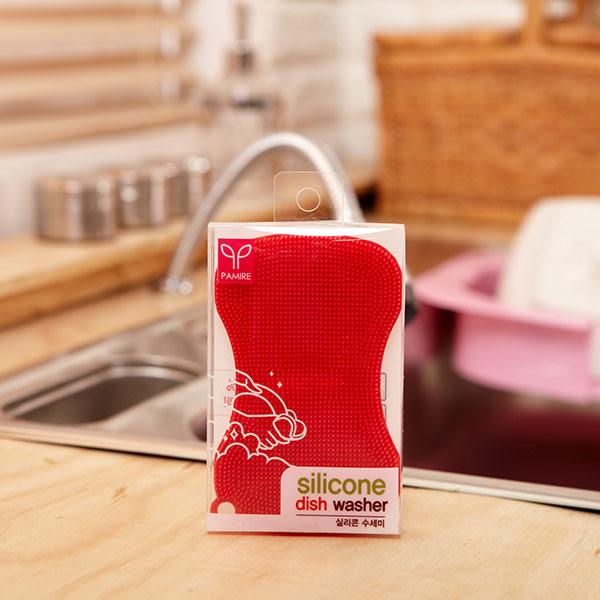 실리콘 수세미 땅콩 색상랜덤발송 [제작 대량 도매 로고 인쇄 레이저 마킹 각인 나염 실크 uv 포장 공장 문의는 네이뽕]