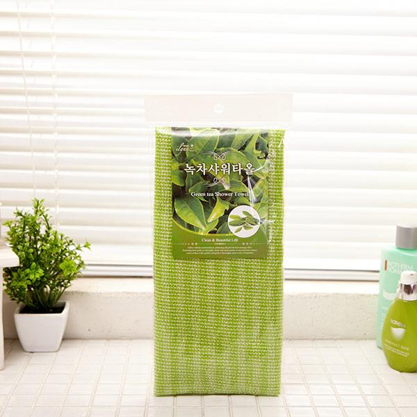 녹차 샤워타올 [제작 대량 도매 로고 인쇄 레이저 마킹 각인 나염 실크 uv 포장 공장 문의는 네이뽕]
