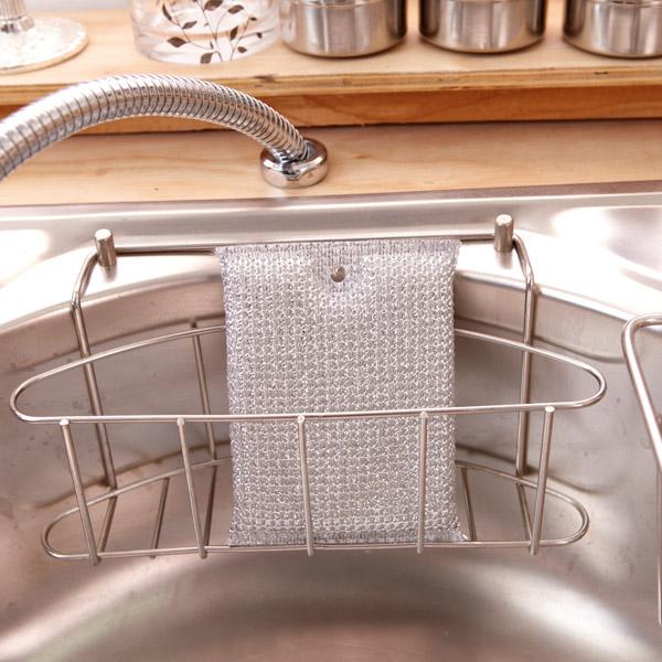 [네모난오렌지] 실버 크리너 1p 소 주방수세미 설거지 스폰지