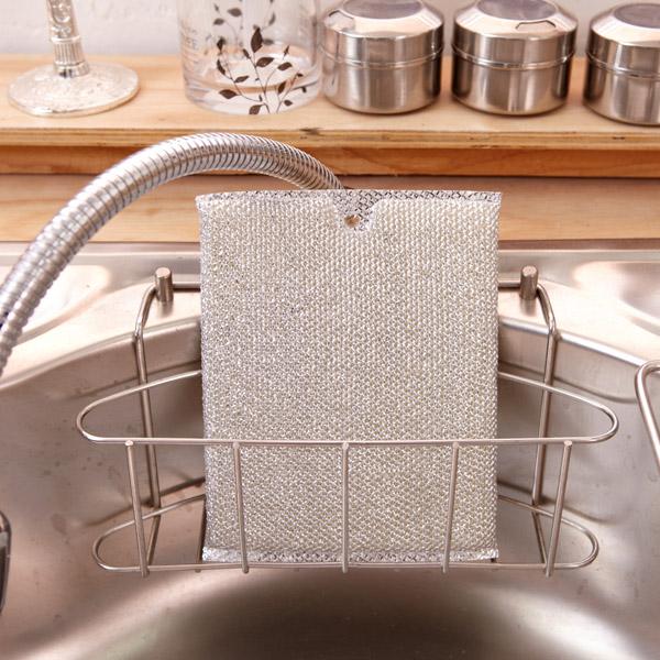 [네모난오렌지] 실버 크리너 1p 대 주방수세미 설거지 스폰지