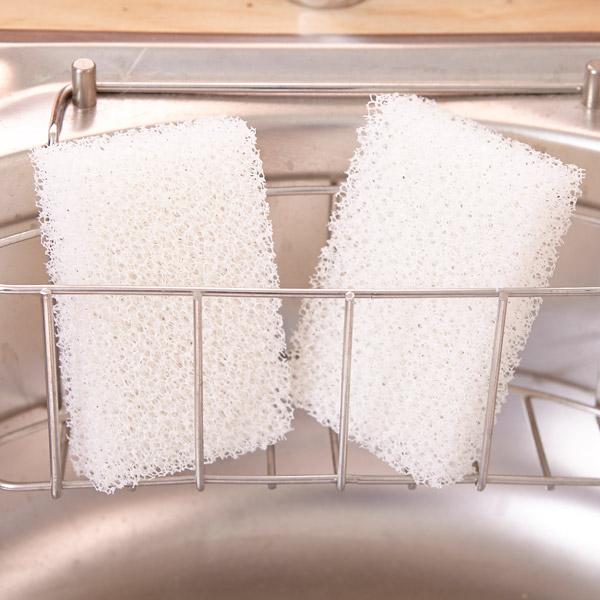 [네모난오렌지] 필터 수세미 2p 주방수세미 설거지 스폰지