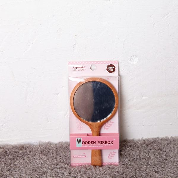 원목 손거울 원형 [제작 대량 도매 로고 인쇄 레이저 마킹 각인 나염 실크 uv 포장 공장 문의는 네이뽕]
