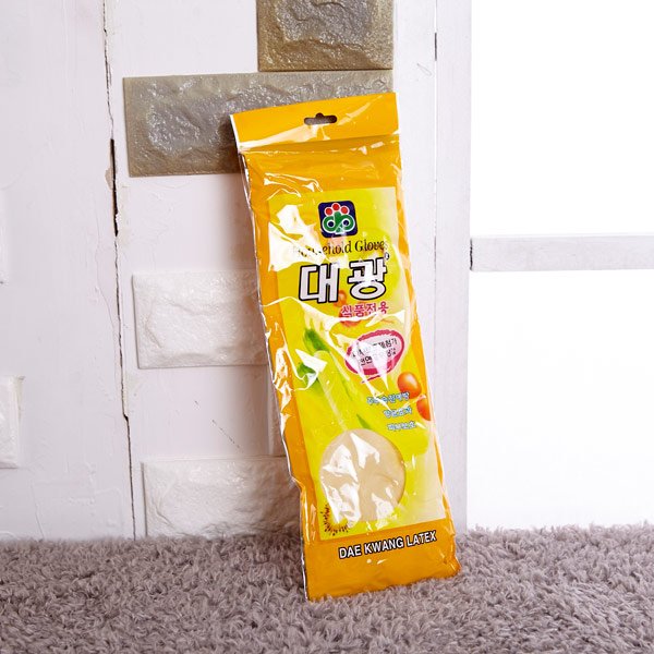 대광 고무장갑 (미색) 식품용 [제작 대량 도매 로고 인쇄 레이저 마킹 각인 나염 실크 uv 포장 공장 문의는 네이뽕]