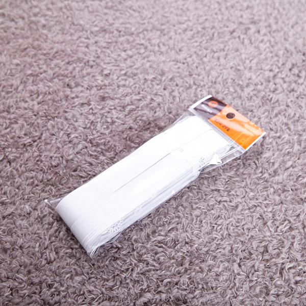 포장 고무줄 1인치 2p 흰색 [제작 대량 도매 로고 인쇄 레이저 마킹 각인 나염 실크 uv 포장 공장 문의는 네이뽕]