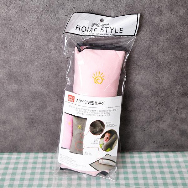 ABM 안전벨트 쿠션 핑크 [제작 대량 도매 로고 인쇄 레이저 마킹 각인 나염 실크 uv 포장 공장 문의는 네이뽕]