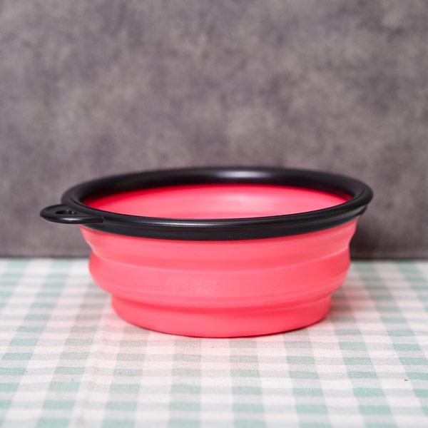 abm 애견 접이식그릇 핑크