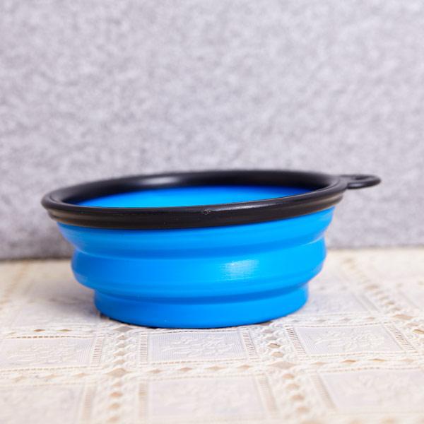 abm 애견 접이식그릇 블루