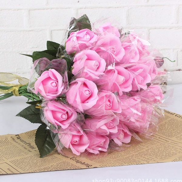ABM 한송이비누장미꽃 핑크 [제작 대량 도매 로고 인쇄 레이저 마킹 각인 나염 실크 uv 포장 공장 문의는 네이뽕]