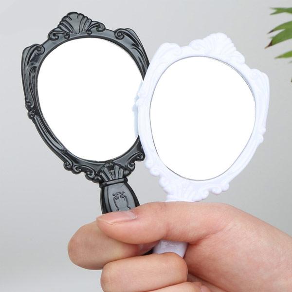ABM(C) 장미손거울(소) 블랙 [제작 대량 도매 로고 인쇄 레이저 마킹 각인 나염 실크 uv 포장 공장 문의는 네이뽕]