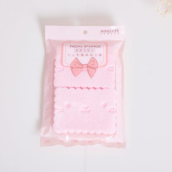 ABM 해면스펀지2p 핑크 [제작 대량 도매 로고 인쇄 레이저 마킹 각인 나염 실크 uv 포장 공장 문의는 네이뽕]