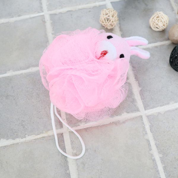 ABM(C) 캐릭터샤워볼 핑크토끼 [제작 대량 도매 로고 인쇄 레이저 마킹 각인 나염 실크 uv 포장 공장 문의는 네이뽕]