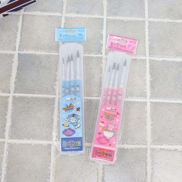 붓 팔레트세트 CR-핑크 5000 [제작 대량 도매 로고 인쇄 레이저 마킹 각인 나염 실크 uv 포장 공장 문의는 네이뽕]