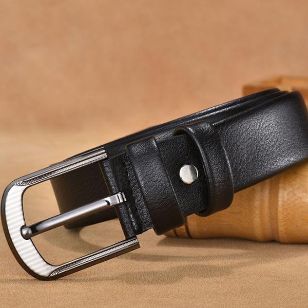 ABM 캐주얼가죽벨트 블랙 [제작 대량 도매 로고 인쇄 레이저 마킹 각인 나염 실크 uv 포장 공장 문의는 네이뽕]