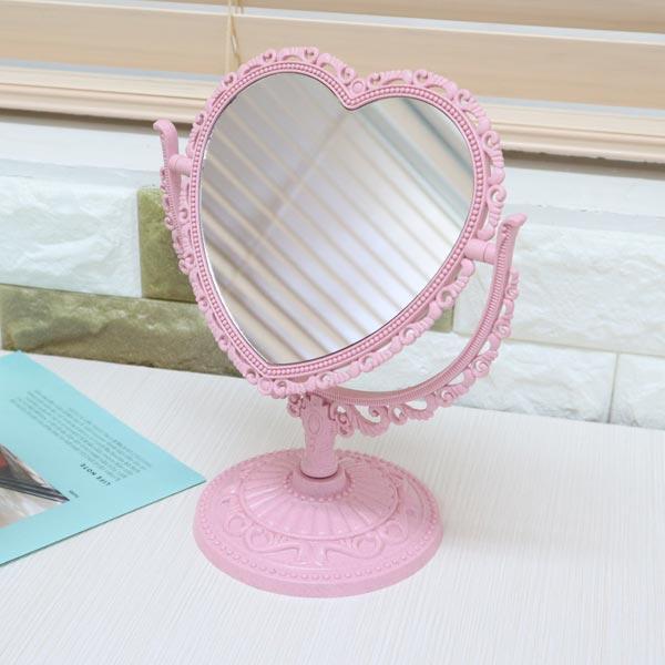 공주하트탁상양면거울 핑크