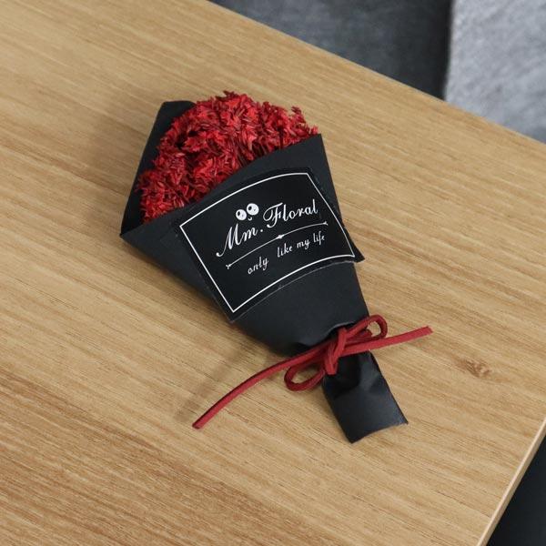 ABM 드라이플라워수정꽃 레드 [제작 대량 도매 로고 인쇄 레이저 마킹 각인 나염 실크 uv 포장 공장 문의는 네이뽕]