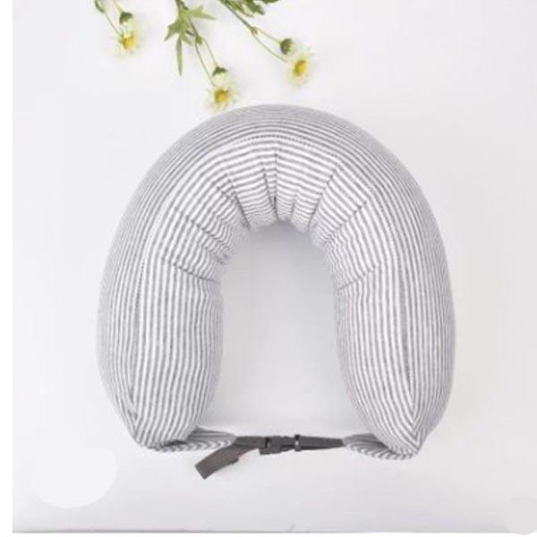 ABM(C)여행용목베개 똑딱이 연그레이 [제작 대량 도매 로고 인쇄 레이저 마킹 각인 나염 실크 uv 포장 공장 문의는 네이뽕]