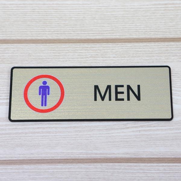 ABM(K)지엠사인(B) 남자화장실(골드) B-7 [제작 대량 도매 로고 인쇄 레이저 마킹 각인 나염 실크 uv 포장 공장 문의는 네이뽕]