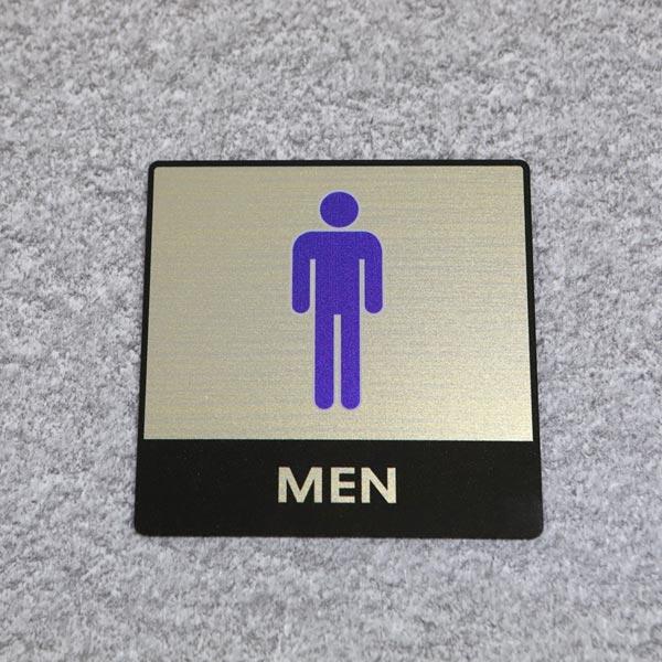 ABM(K)지엠사인(C) 남자화장실(골드) C-2 [제작 대량 도매 로고 인쇄 레이저 마킹 각인 나염 실크 uv 포장 공장 문의는 네이뽕]