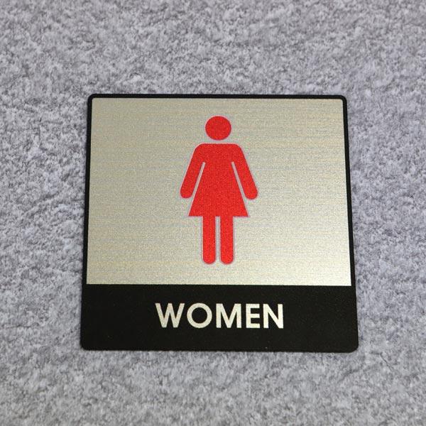 ABM(K)지엠사인(C) 여자화장실(골드) C-3 [제작 대량 도매 로고 인쇄 레이저 마킹 각인 나염 실크 uv 포장 공장 문의는 네이뽕]