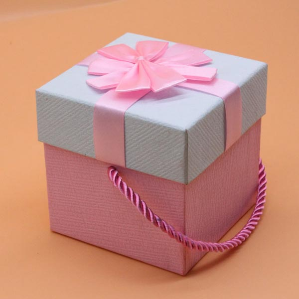 ABM(C)꽃리본선물상자 핑크(10x10) [제작 대량 도매 로고 인쇄 레이저 마킹 각인 나염 실크 uv 포장 공장 문의는 네이뽕]