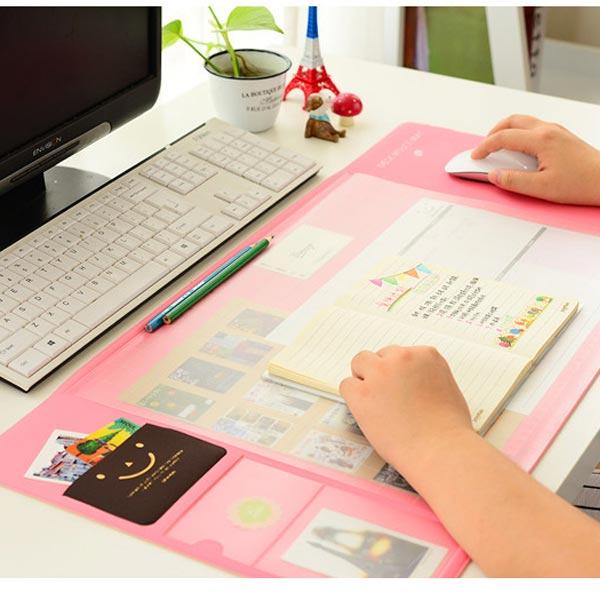 ABM 멀티 데스크매트 핑크 [제작 대량 도매 로고 인쇄 레이저 마킹 각인 나염 실크 uv 포장 공장 문의는 네이뽕]