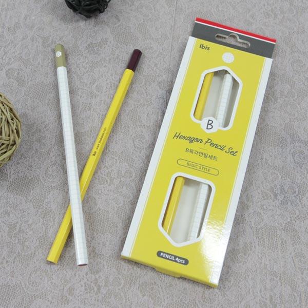 b육각 연필세트 4본(sp) 1000