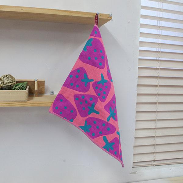 abm 북유럽 고리타월(35x40) 핑크스트로베리