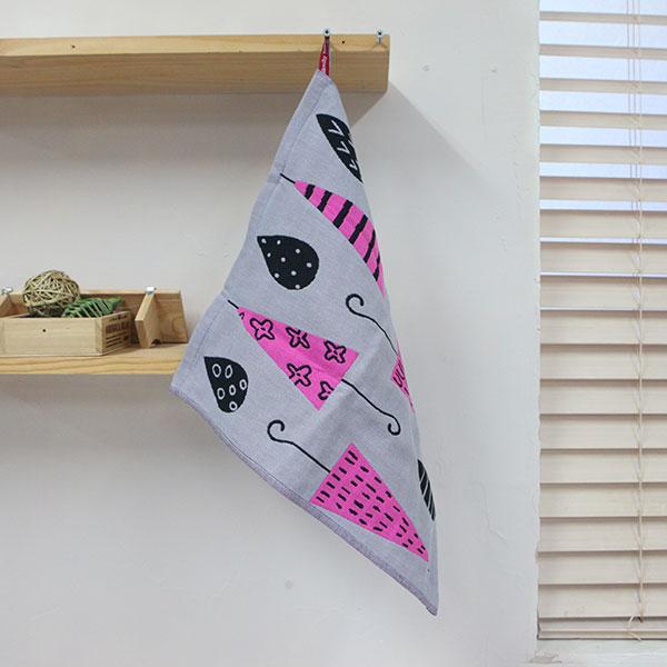ABM(C) 북유럽 고리타올(35x40) 핑크우산 [제작 대량 도매 로고 인쇄 레이저 마킹 각인 나염 실크 uv 포장 공장 문의는 네이뽕]