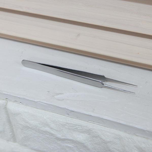 ABM 일자형 핀셋 [제작 대량 도매 로고 인쇄 레이저 마킹 각인 나염 실크 uv 포장 공장 문의는 네이뽕]