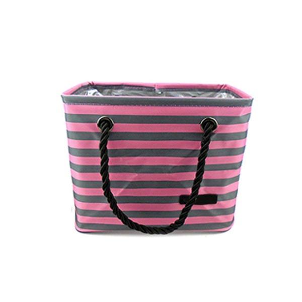 abm 스트라이프 목욕가방 핑크