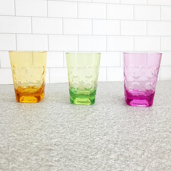 물방울 사각쥬스컵 (색상랜덤) 1P