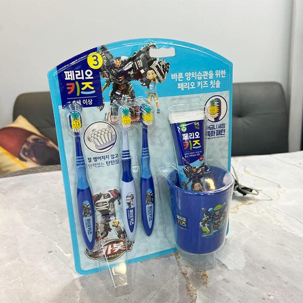 페리오키즈 3단계 양치세트 6세이상 카봇