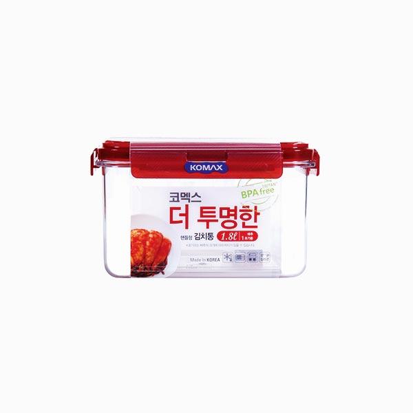 코멕스 더투명한 김치통 정사각 1.8L (핸들형)