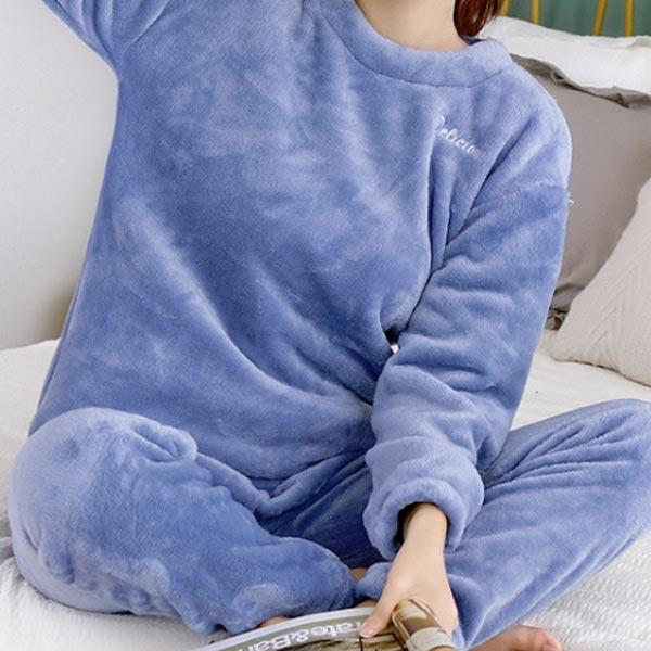 abm 여성 소프트 수면바지 free 블루
