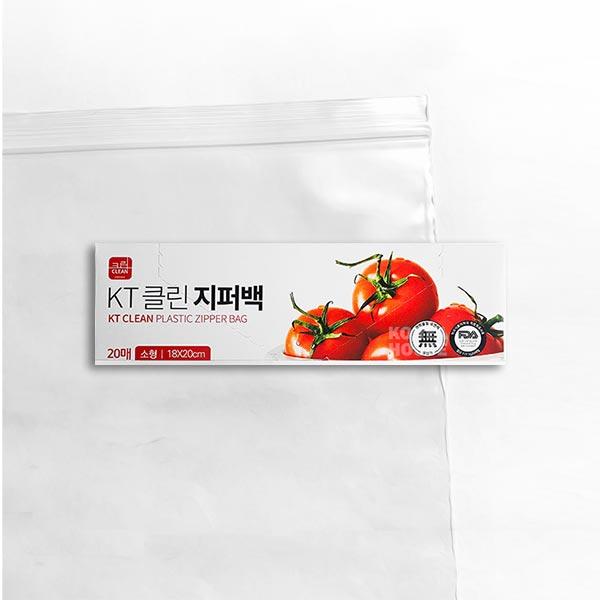 클린 지퍼백 소 20매 (18x20)
