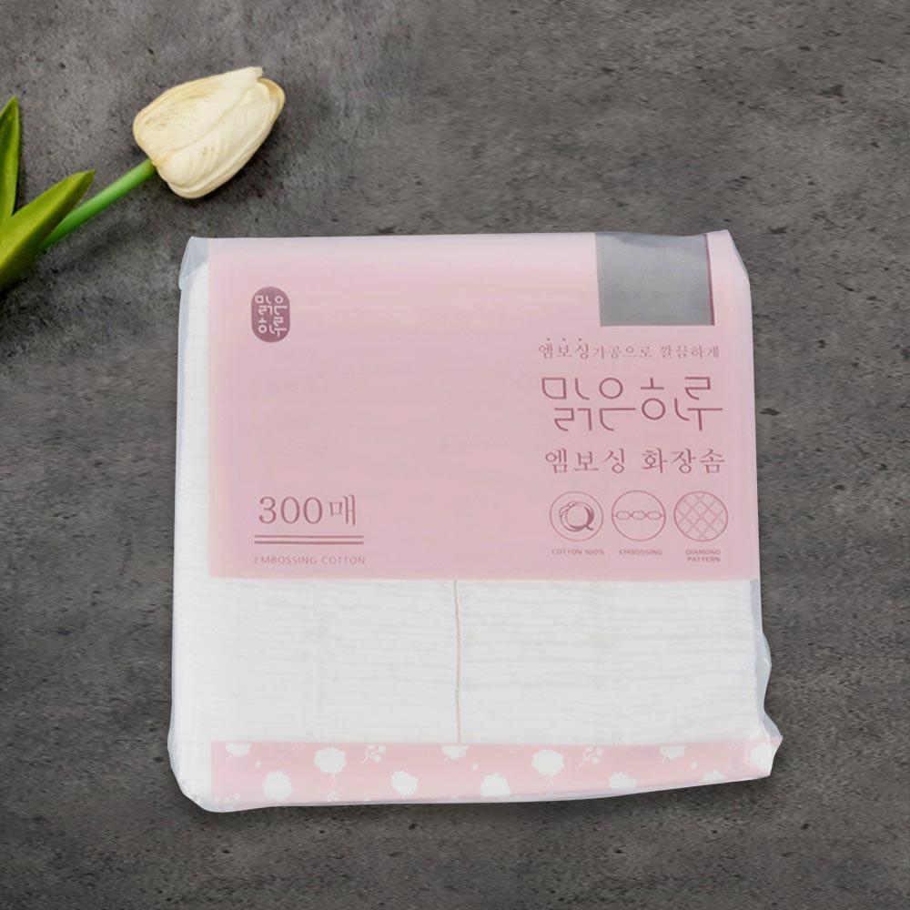 맑은하루 엠보싱 화장솜 300p