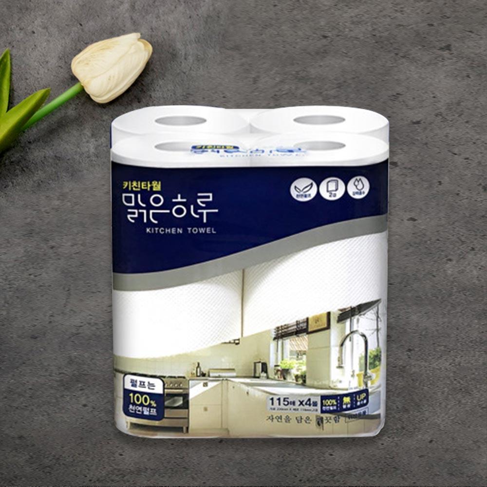 맑은하루 키친타월115매4p