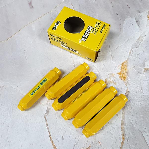 초크홀더 육각탄산분필용 노랑 6p