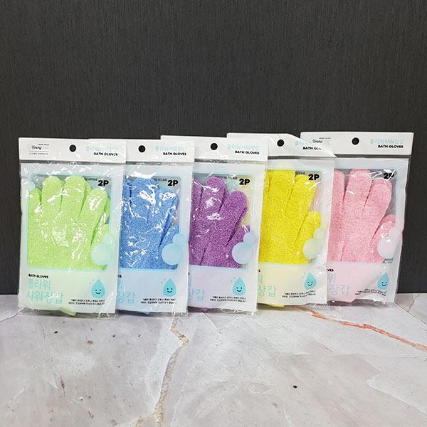 플라워 샤워장갑 2p (색상랜덤)