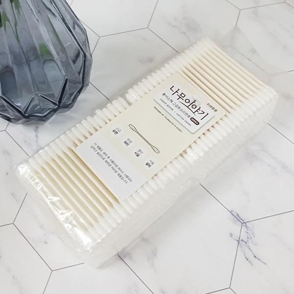 나무이야기 종이스틱 회오리형 4p면봉 (400p)