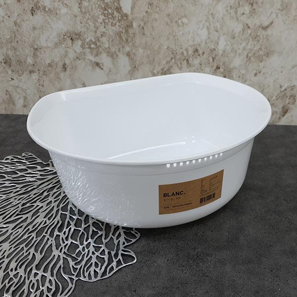 블랑 설거지통(원형) 화이트