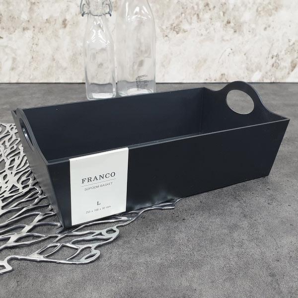 프랑코 소품바스켓 (대) 블랙