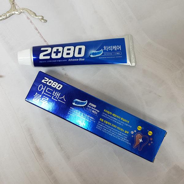 애경 2080 어드밴스 블루 치약 (120g)