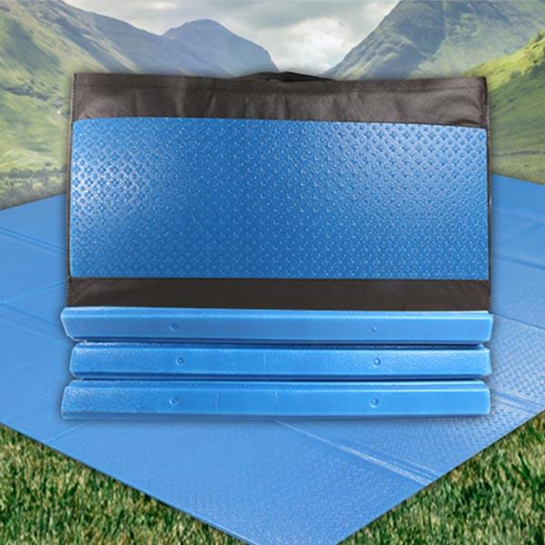완전코팅필름 캠핑매트 블루 200x240