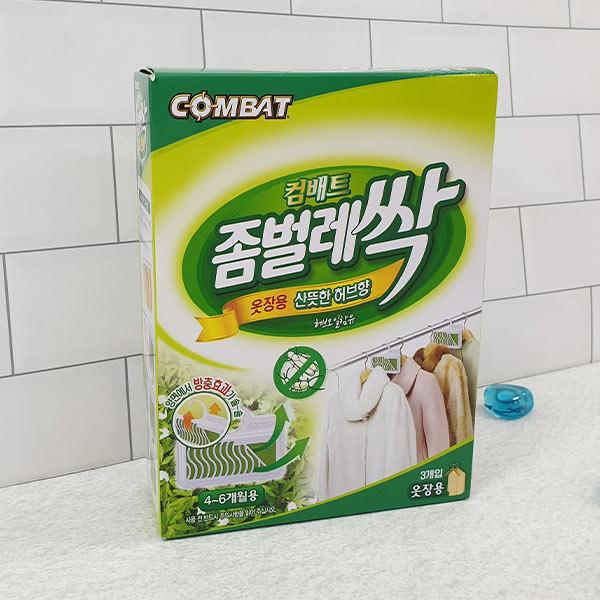 컴배트 좀벌레싹 옷장용 허브향 3개입