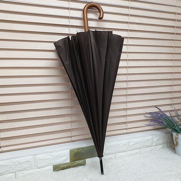 비스토어 클래식 장우산 브라운(나무손잡이)