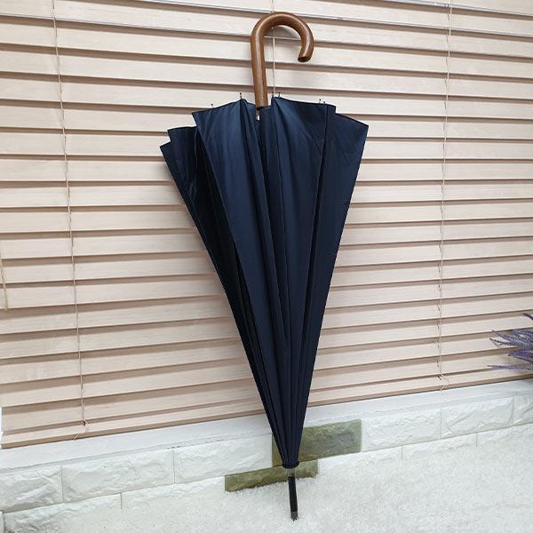 비스토어 클래식 장우산 네이비(나무손잡이)