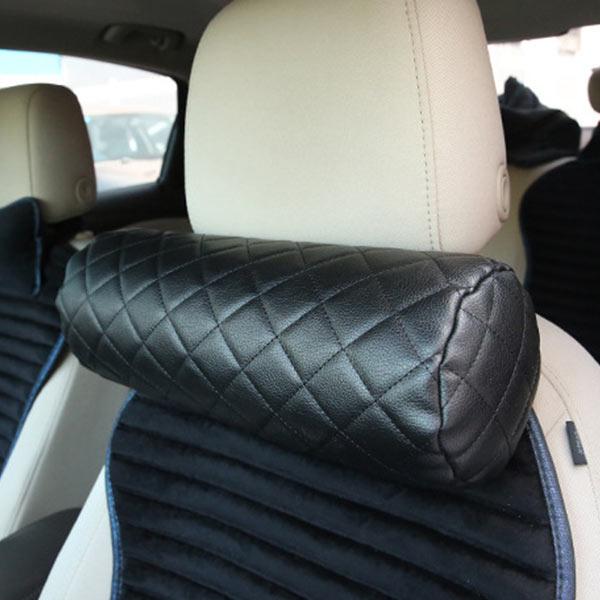 ABM 차량용 와이드 가죽 목쿠션 블랙