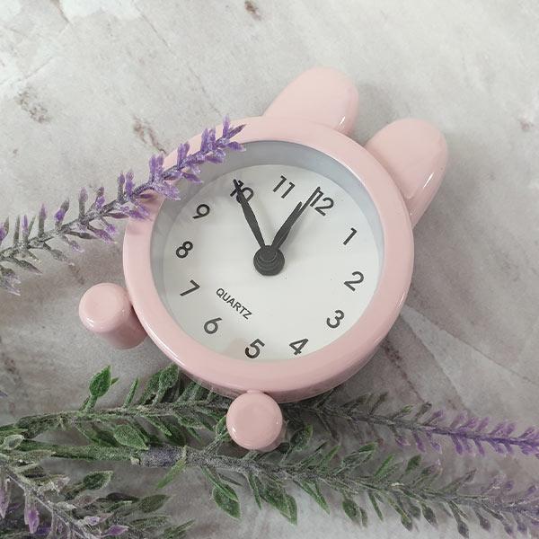 ABM 미니 토끼 알람시계 핑크